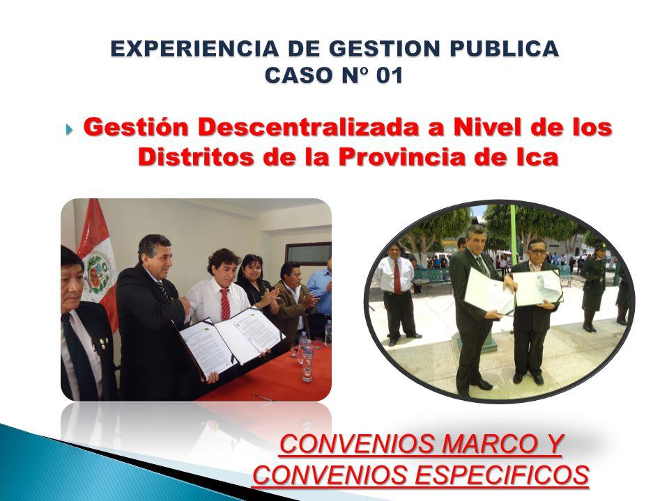 EXPERIENCIA DE GESTION PUBLICA CASO Nº 01