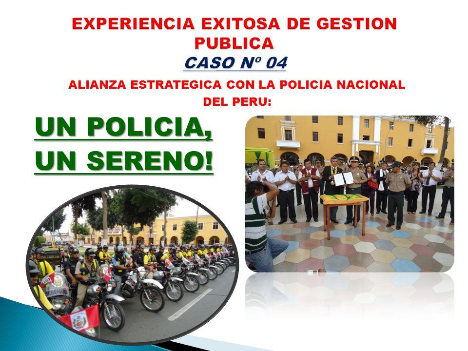 EXPERIENCIA EXITOSA DE GESTION PUBLICA CASO Nº 04