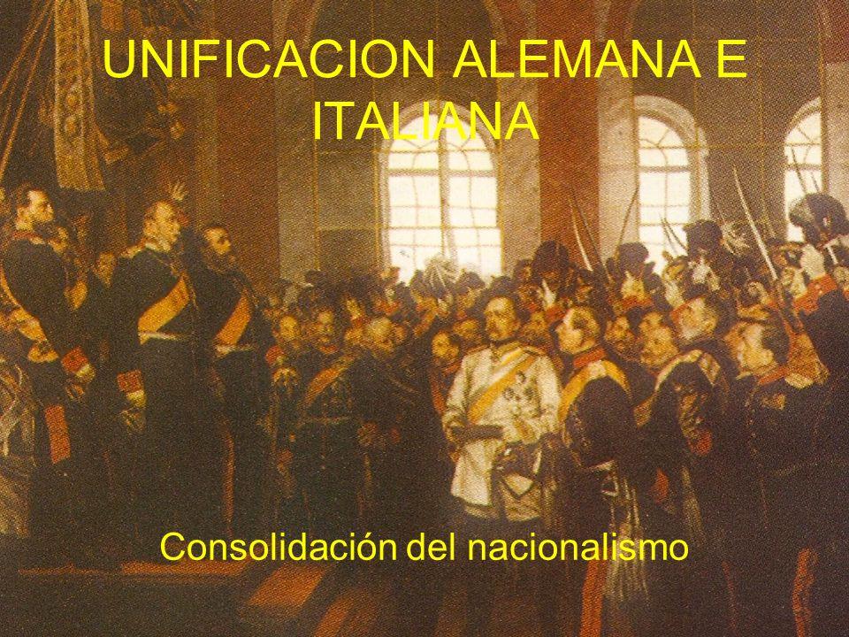UNIFICACION ALEMANA E ITALIANA
