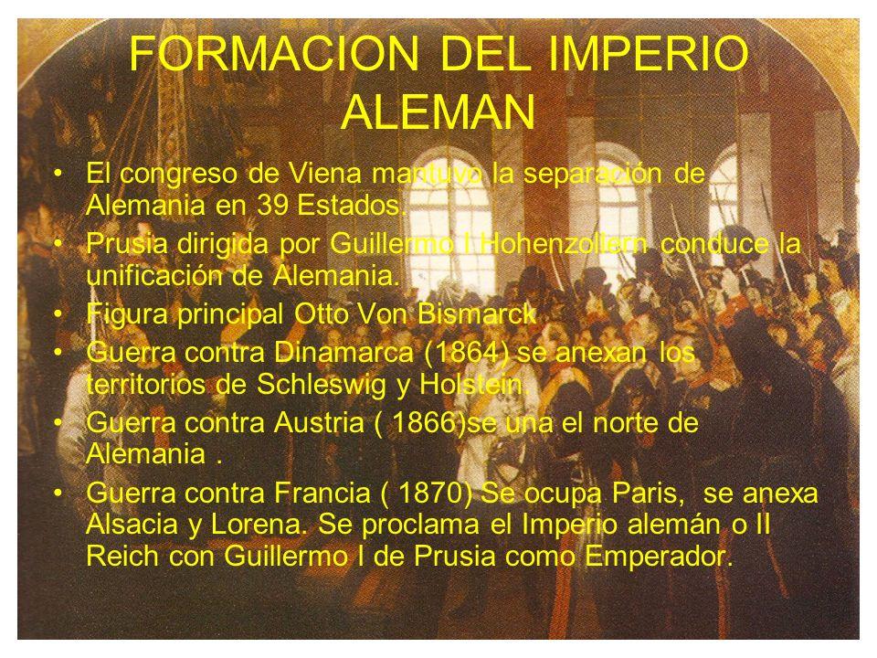 FORMACION DEL IMPERIO ALEMAN