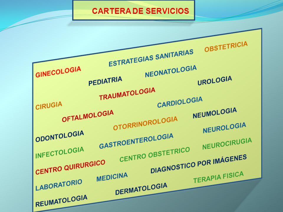CARTERA DE SERVICIOS GINECOLOGIA ESTRATEGIAS SANITARIAS OBSTETRICIA