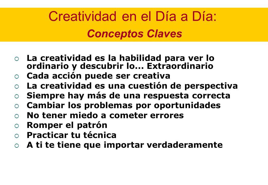 Creatividad en el Día a Día: Conceptos Claves