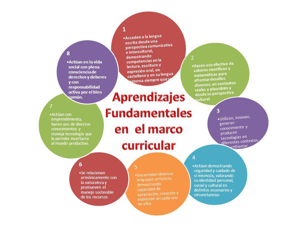 Aprendizajes Fundamentales en el marco curricular