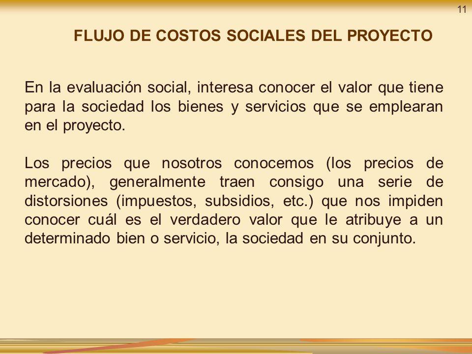 FLUJO DE COSTOS SOCIALES DEL PROYECTO