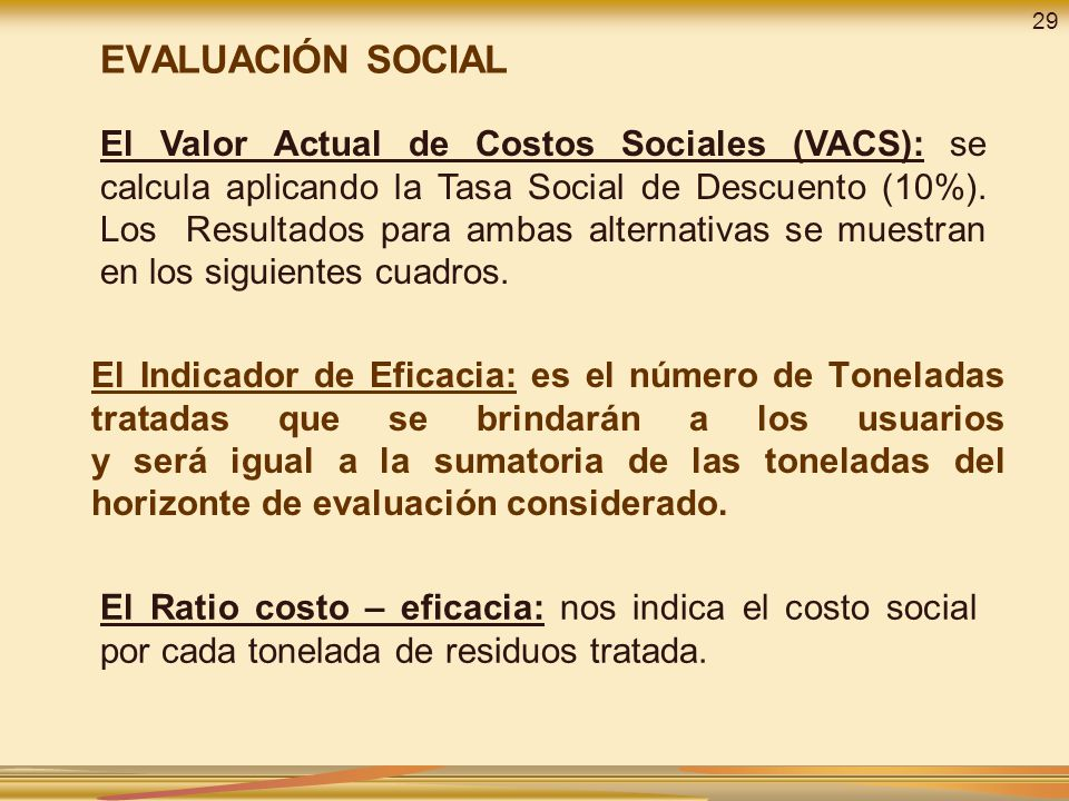 29 EVALUACIÓN SOCIAL.