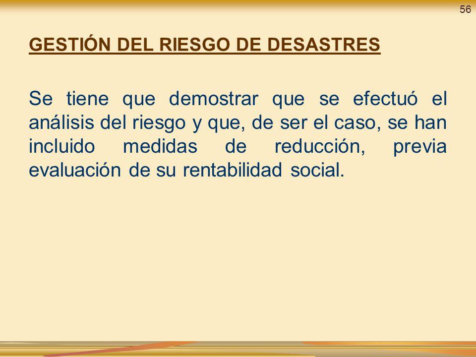 GESTIÓN DEL RIESGO DE DESASTRES