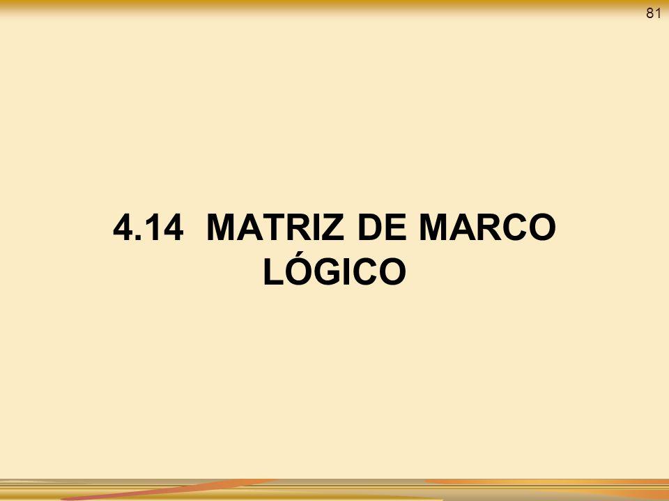 81 4.14 MATRIZ DE MARCO LÓGICO