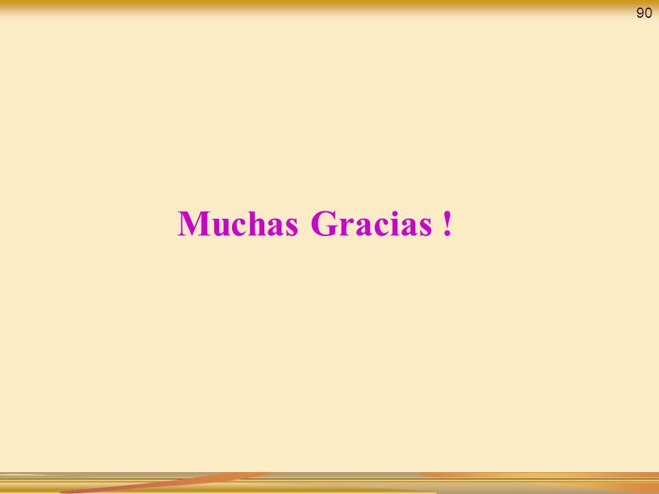 90 Muchas Gracias !