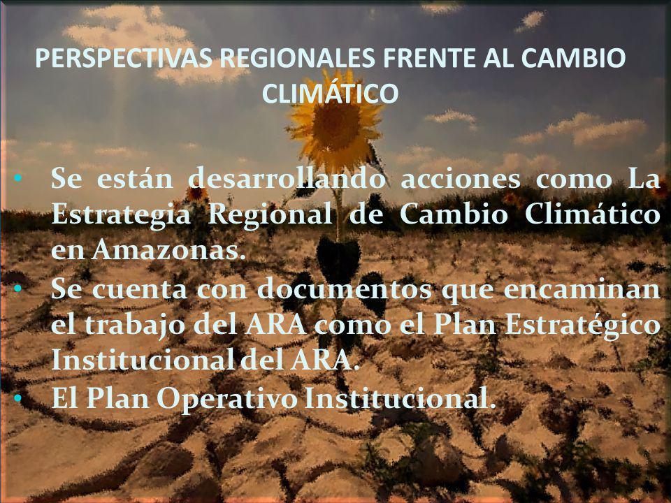 PERSPECTIVAS REGIONALES FRENTE AL CAMBIO CLIMÁTICO
