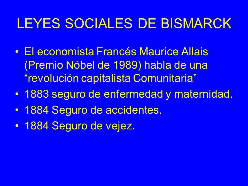 LEYES SOCIALES DE BISMARCK