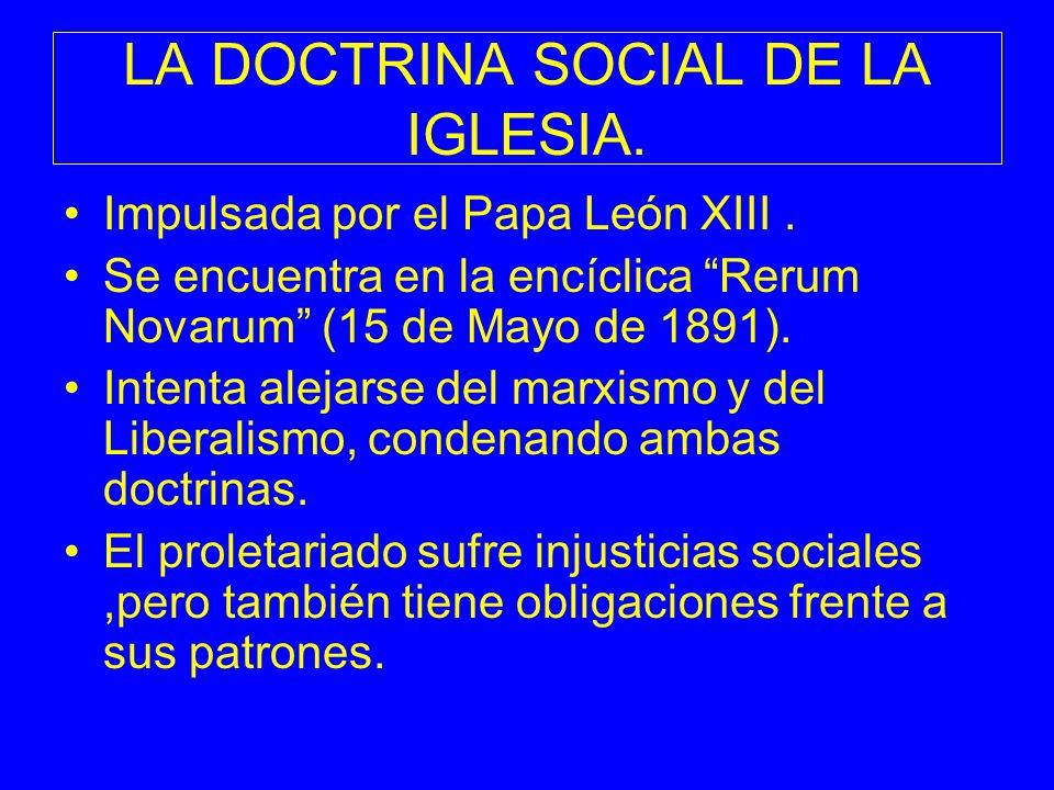 LA DOCTRINA SOCIAL DE LA IGLESIA.