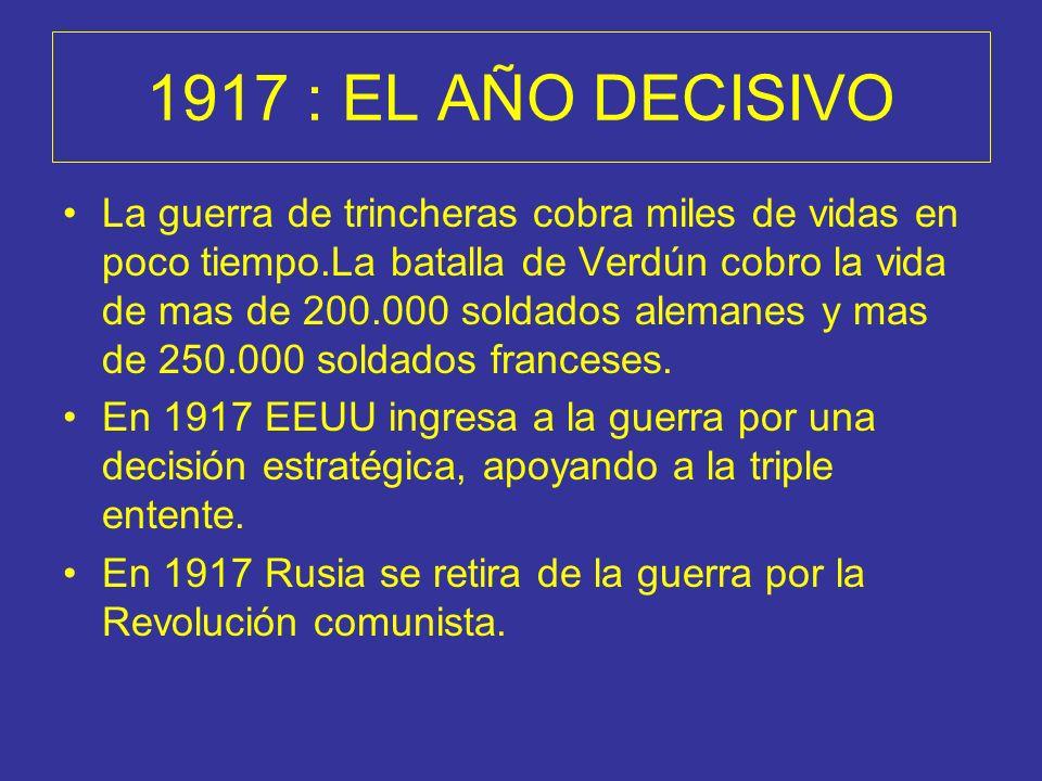 1917 : EL AÑO DECISIVO