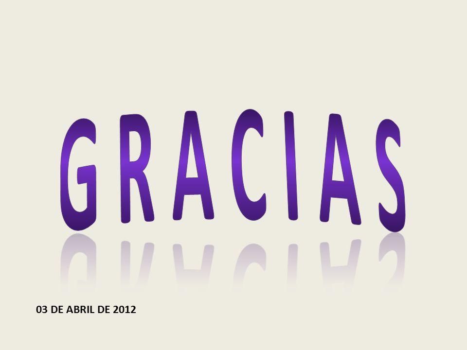 G R A C I A S 03 DE ABRIL DE 2012