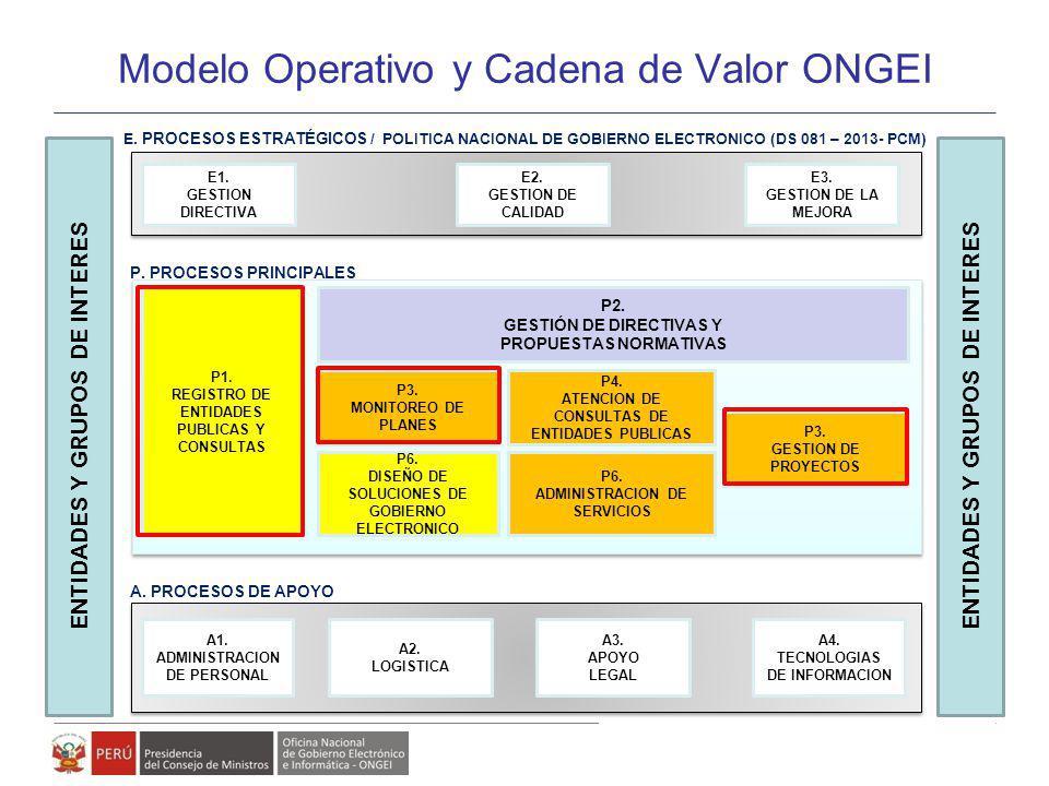 Modelo Operativo y Cadena de Valor ONGEI