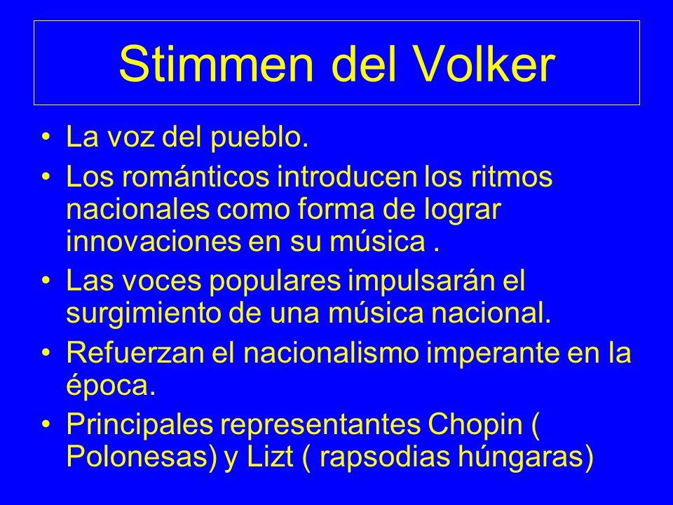 Stimmen del Volker La voz del pueblo.