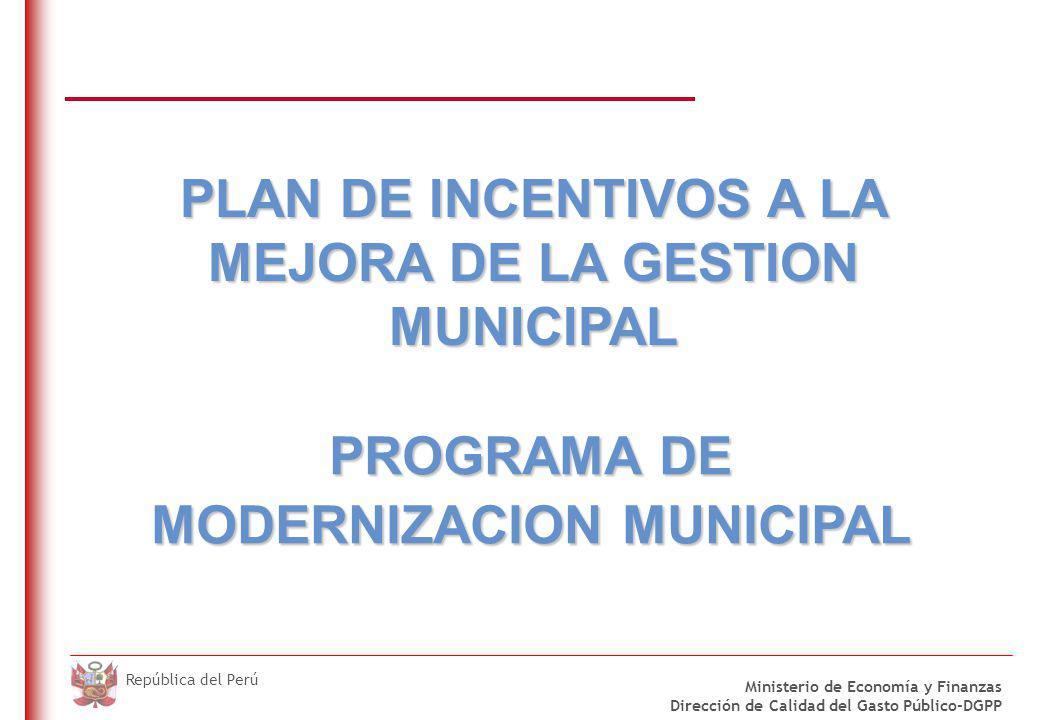 Mecanismos de trasferencias condicionadas para Municipalidades