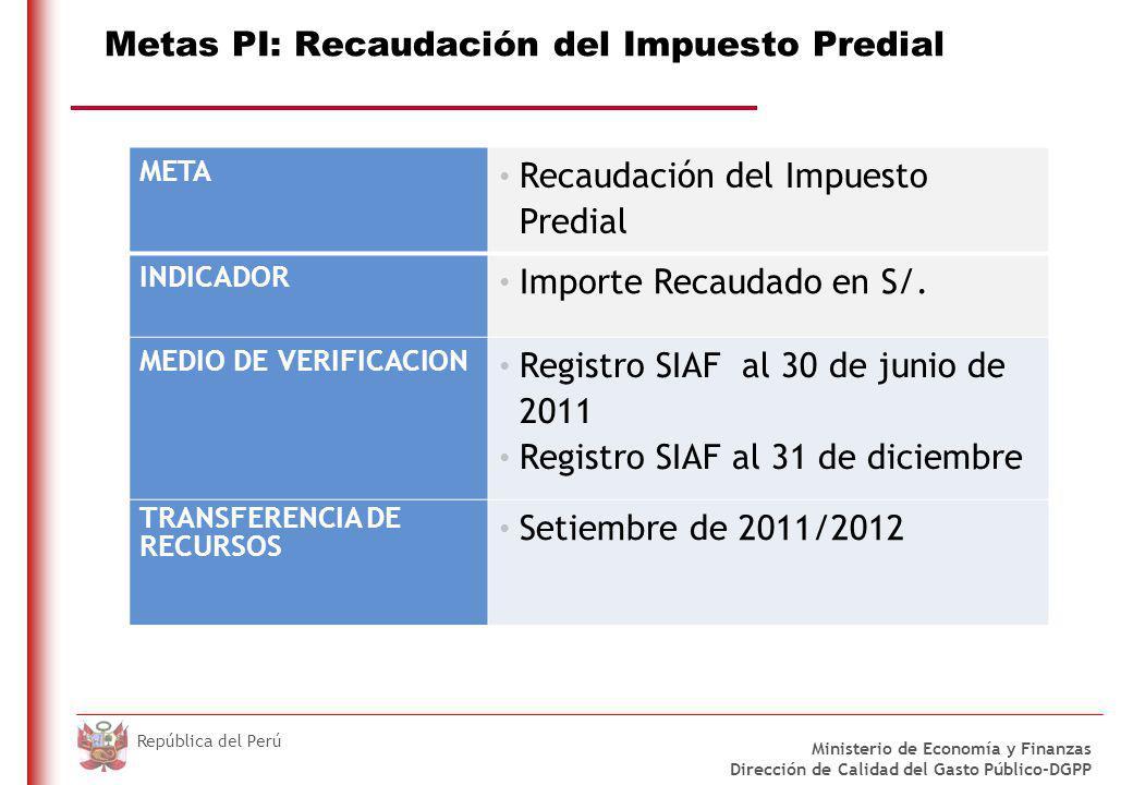 Metas PI: Registro y envío del CUI