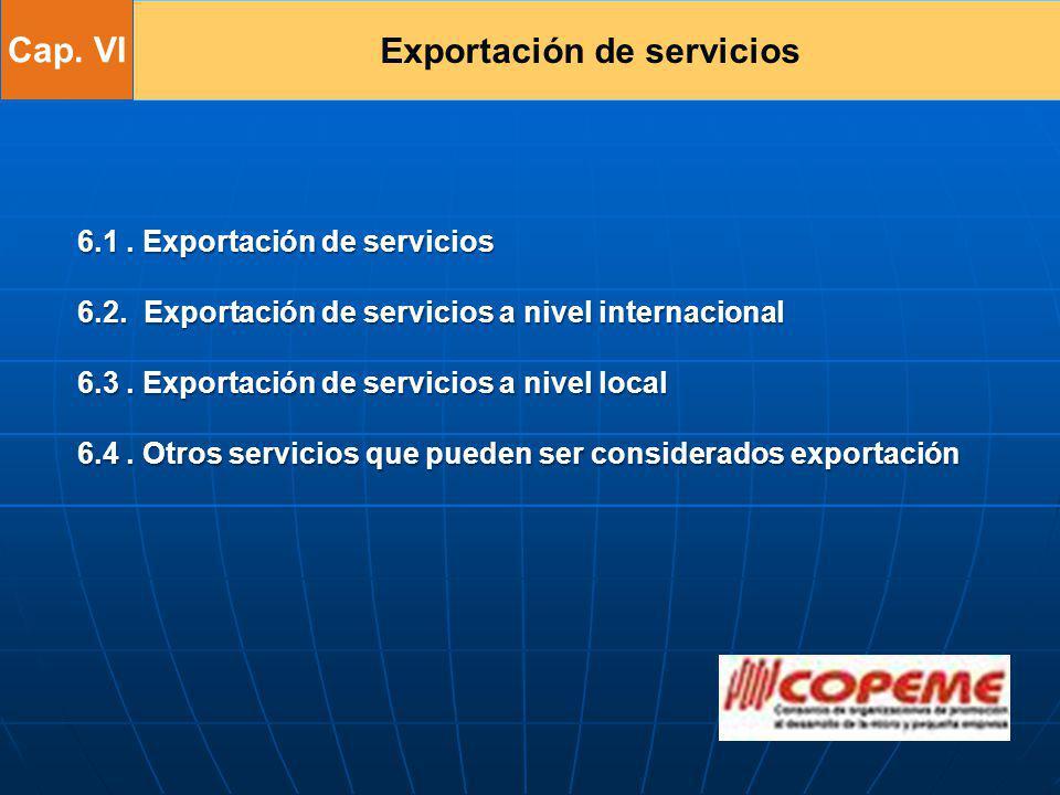 Exportación de servicios