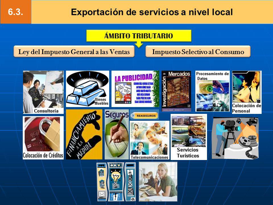 6.3. Exportación de servicios a nivel local
