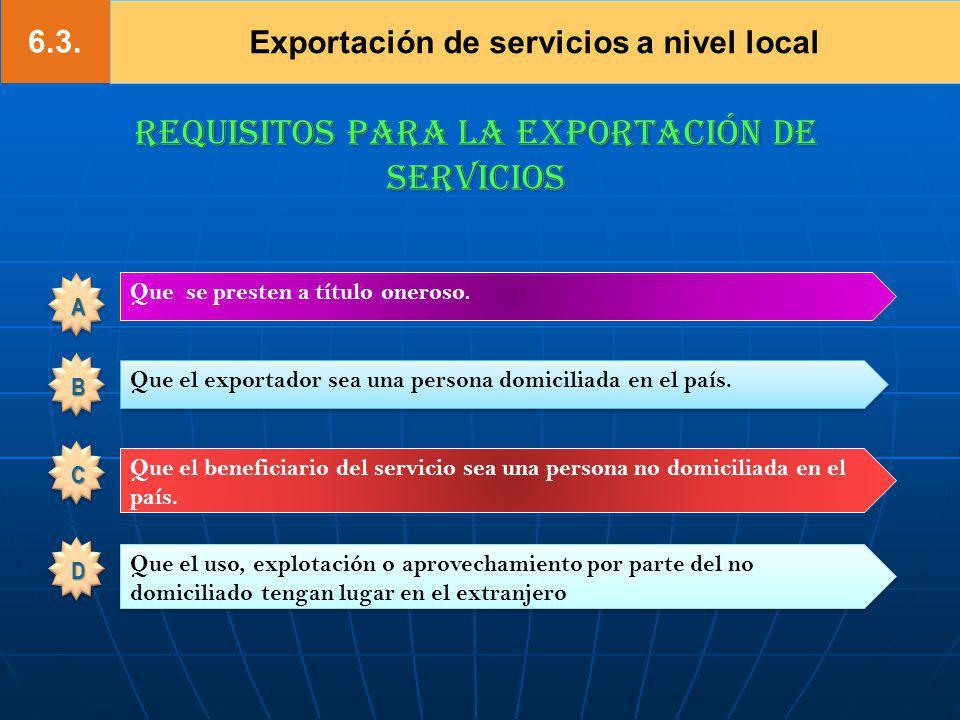 Exportación de servicios a nivel local