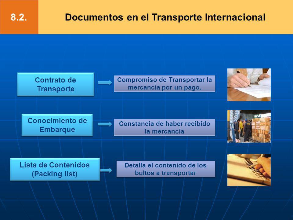 8.2. Documentos en el Transporte Internacional