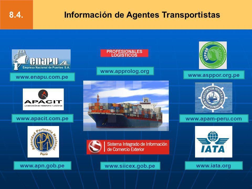 Información de Agentes Transportistas