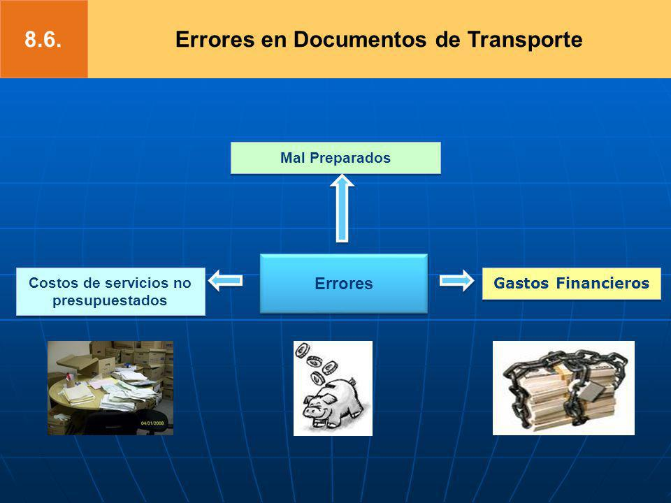 8.6. Errores en Documentos de Transporte