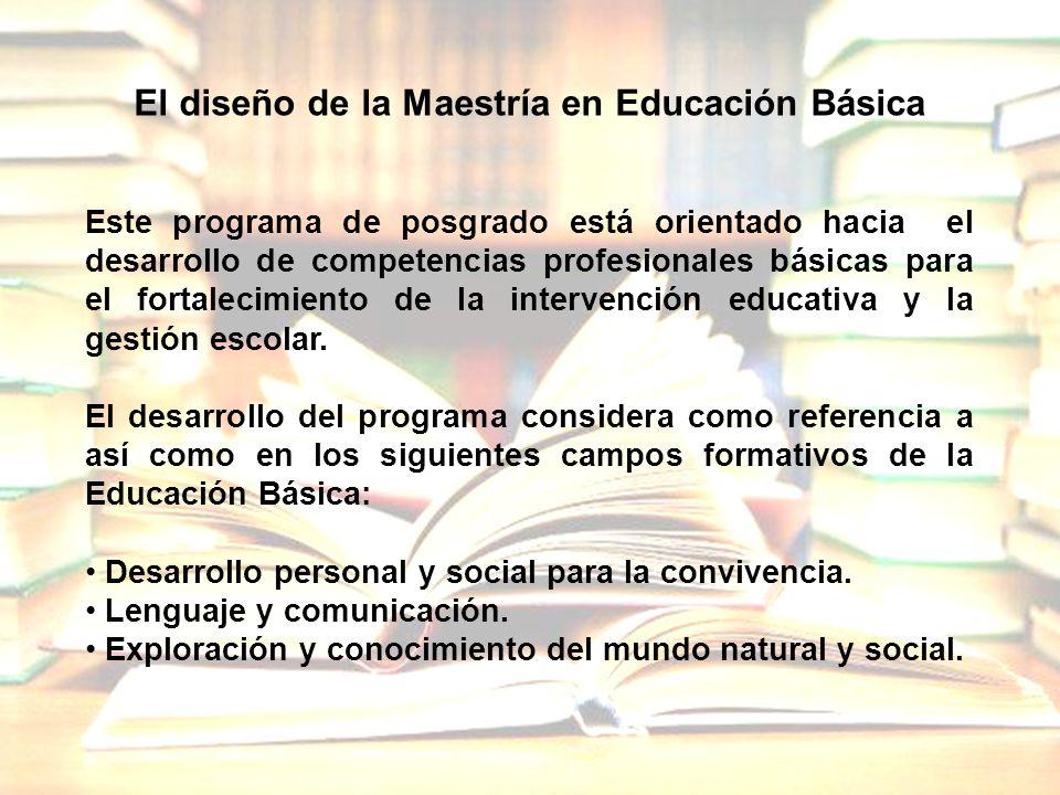 El diseño de la Maestría en Educación Básica