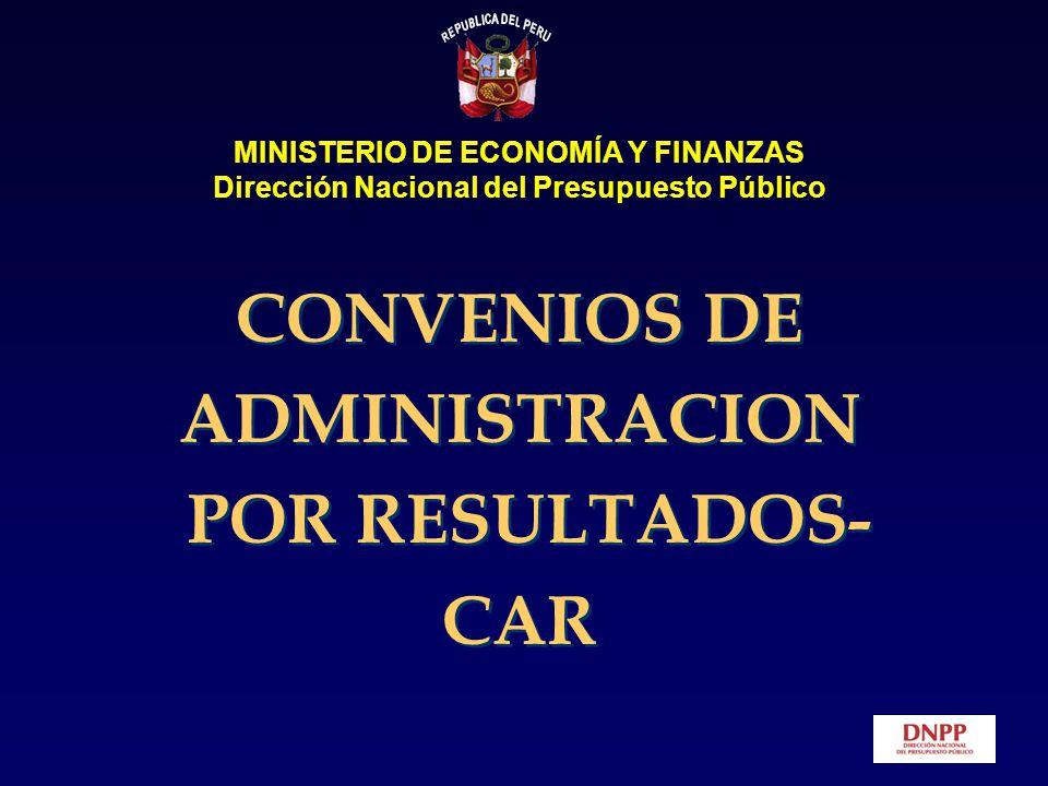 CONVENIOS DE ADMINISTRACION POR RESULTADOS-CAR