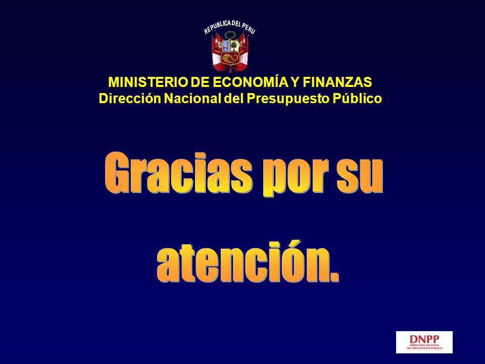 Gracias por su atención. MINISTERIO DE ECONOMÍA Y FINANZAS
