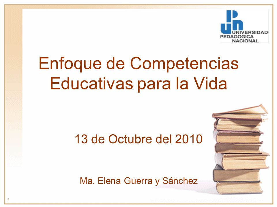 Enfoque de Competencias Educativas para la Vida