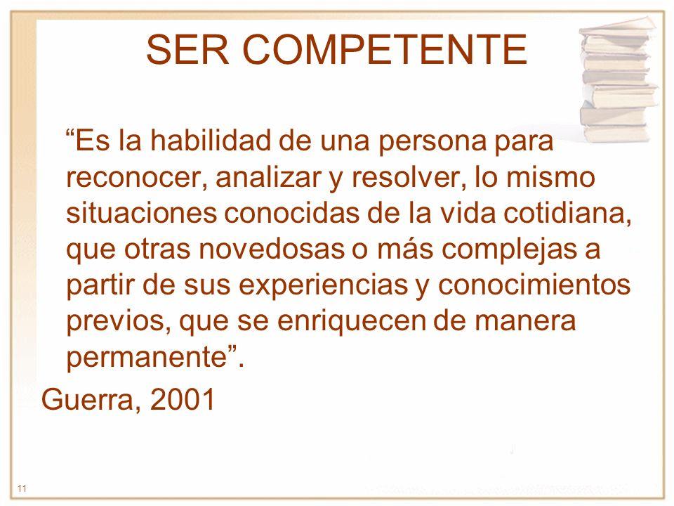 SER COMPETENTE