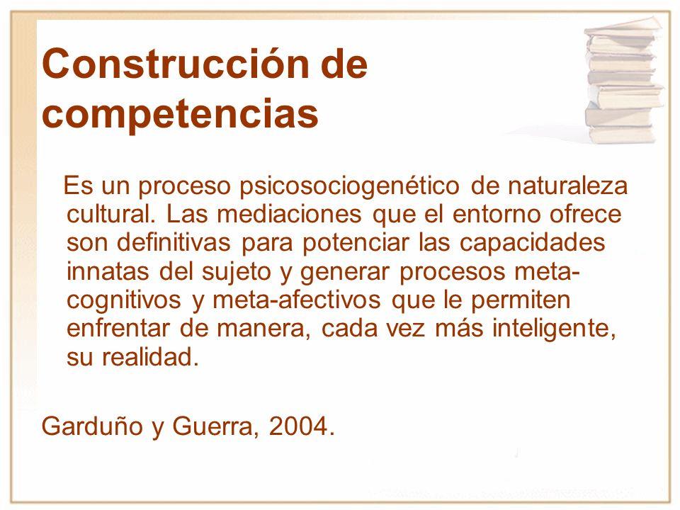 Construcción de competencias
