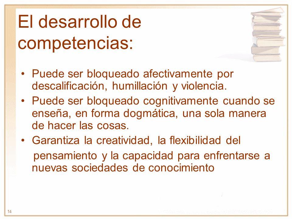 El desarrollo de competencias: