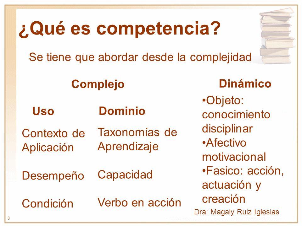 ¿Qué es competencia Se tiene que abordar desde la complejidad