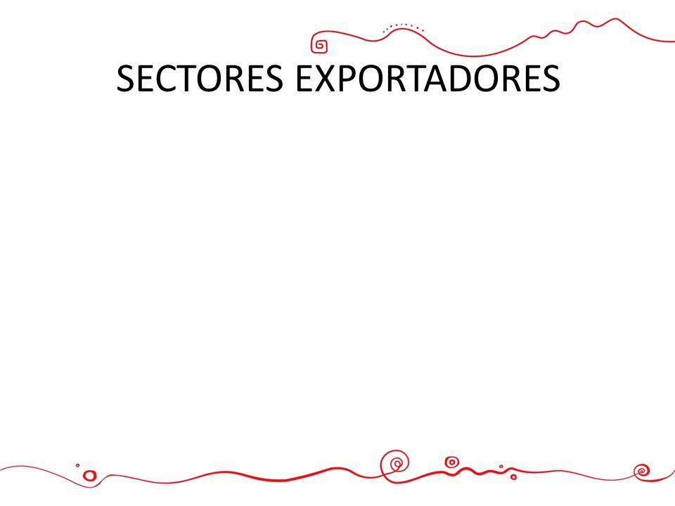 SECTORES EXPORTADORES