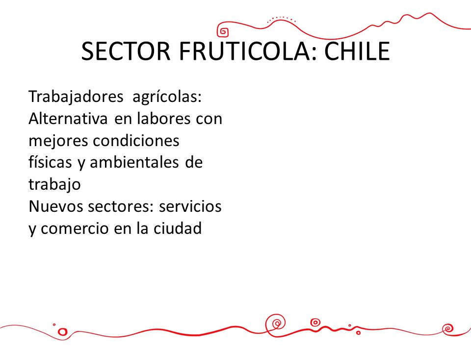 SECTOR FRUTICOLA: CHILE