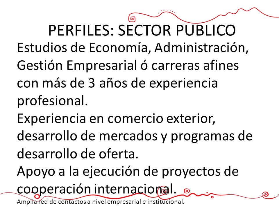 PERFILES: SECTOR PUBLICO