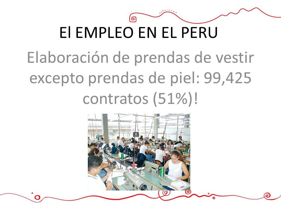 8 Hacemos. El EMPLEO EN EL PERU.