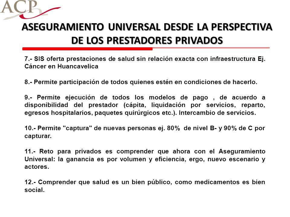ASEGURAMIENTO UNIVERSAL DESDE LA PERSPECTIVA