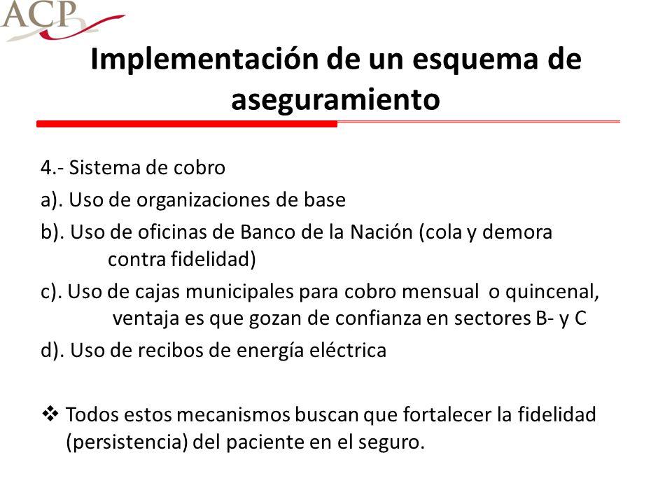 Implementación de un esquema de aseguramiento