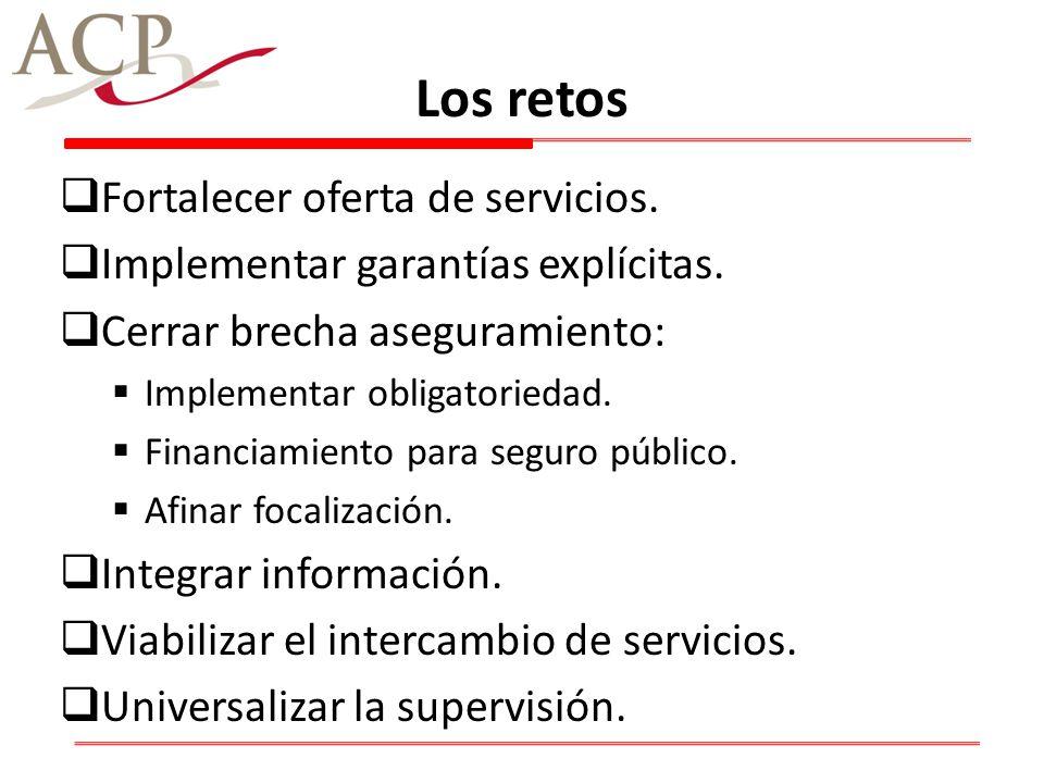 Los retos Fortalecer oferta de servicios.