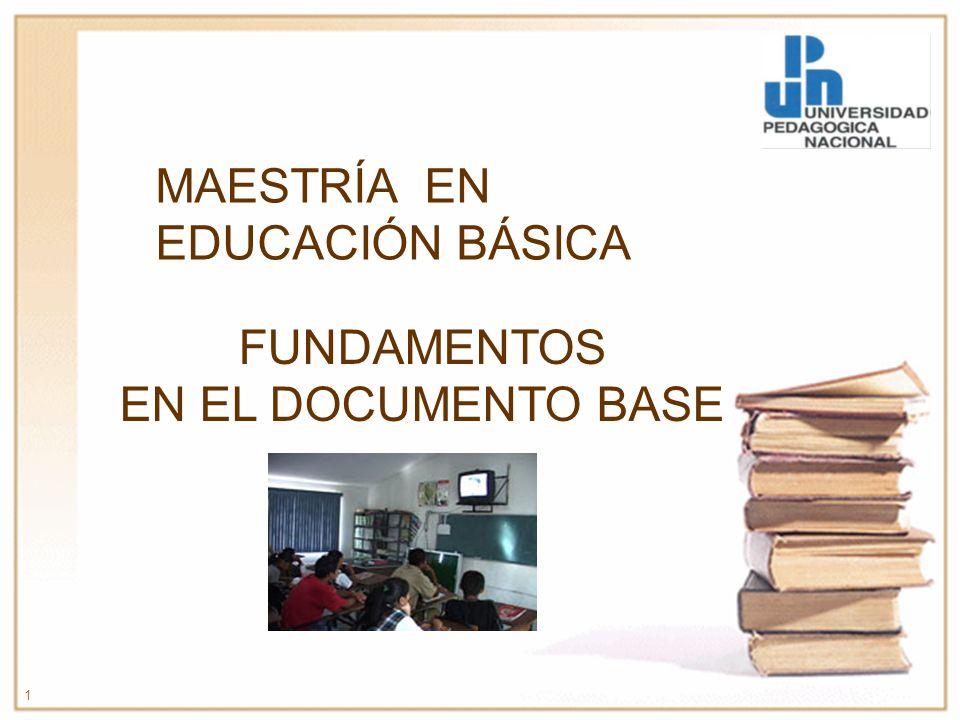 MAESTRÍA EN EDUCACIÓN BÁSICA