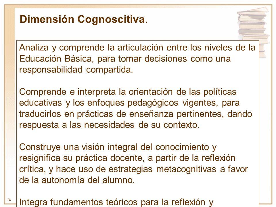 Dimensión Cognoscitiva.