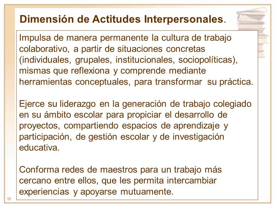 Dimensión de Actitudes Interpersonales.