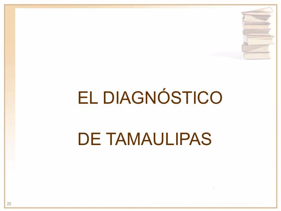 EL DIAGNÓSTICO DE TAMAULIPAS