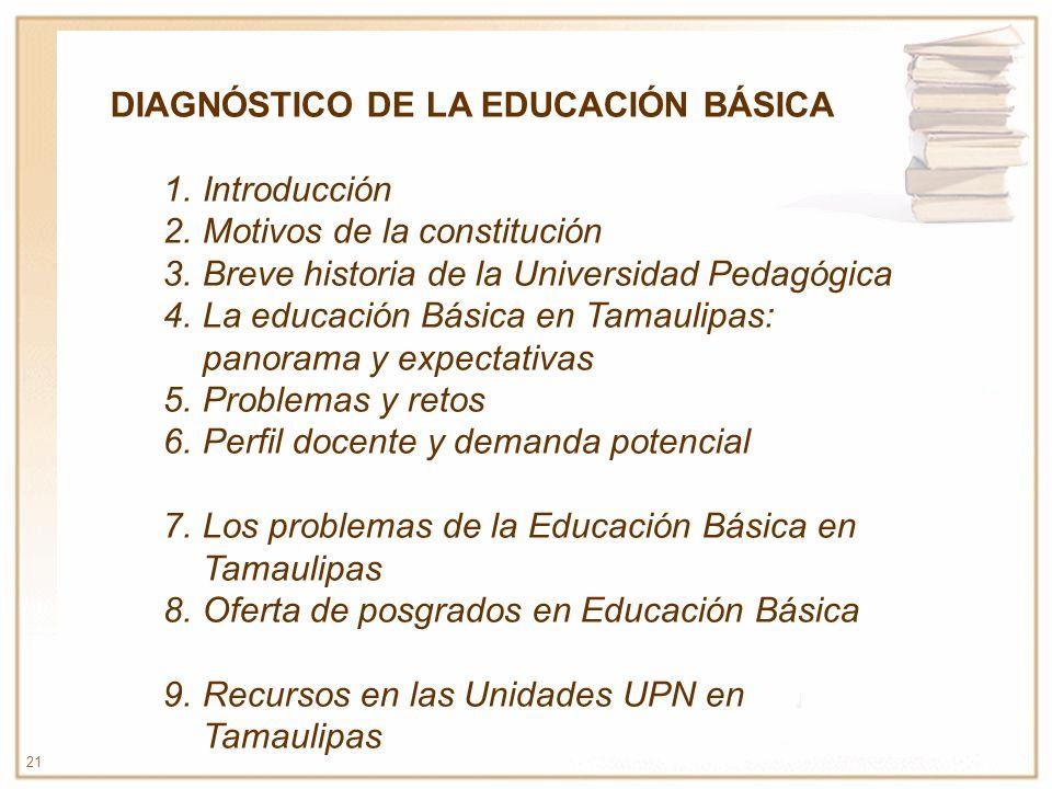 DIAGNÓSTICO DE LA EDUCACIÓN BÁSICA