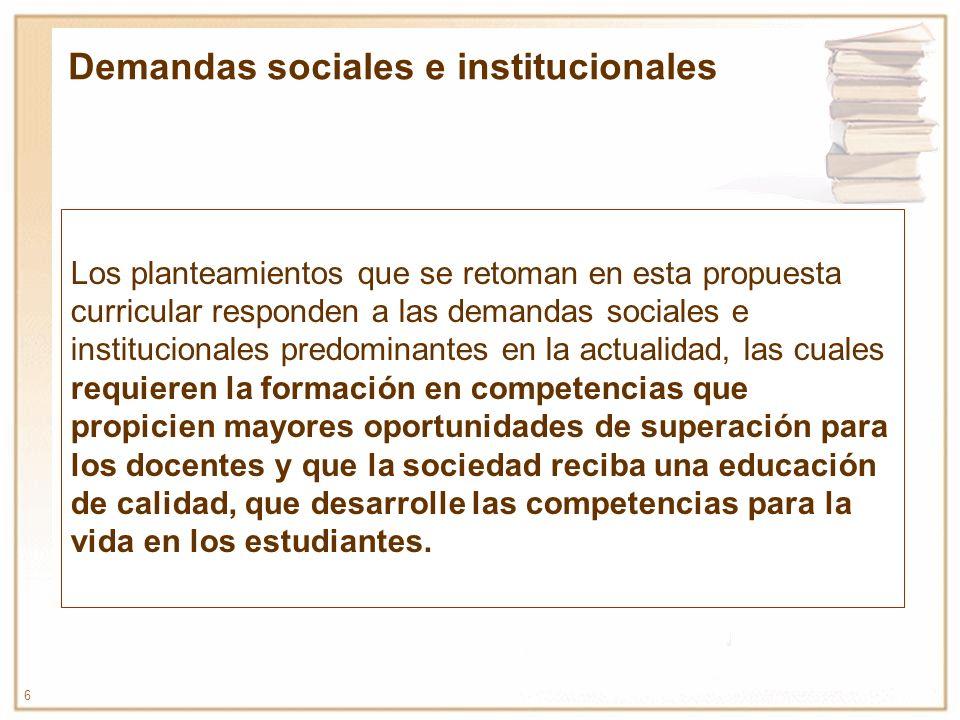 Demandas sociales e institucionales