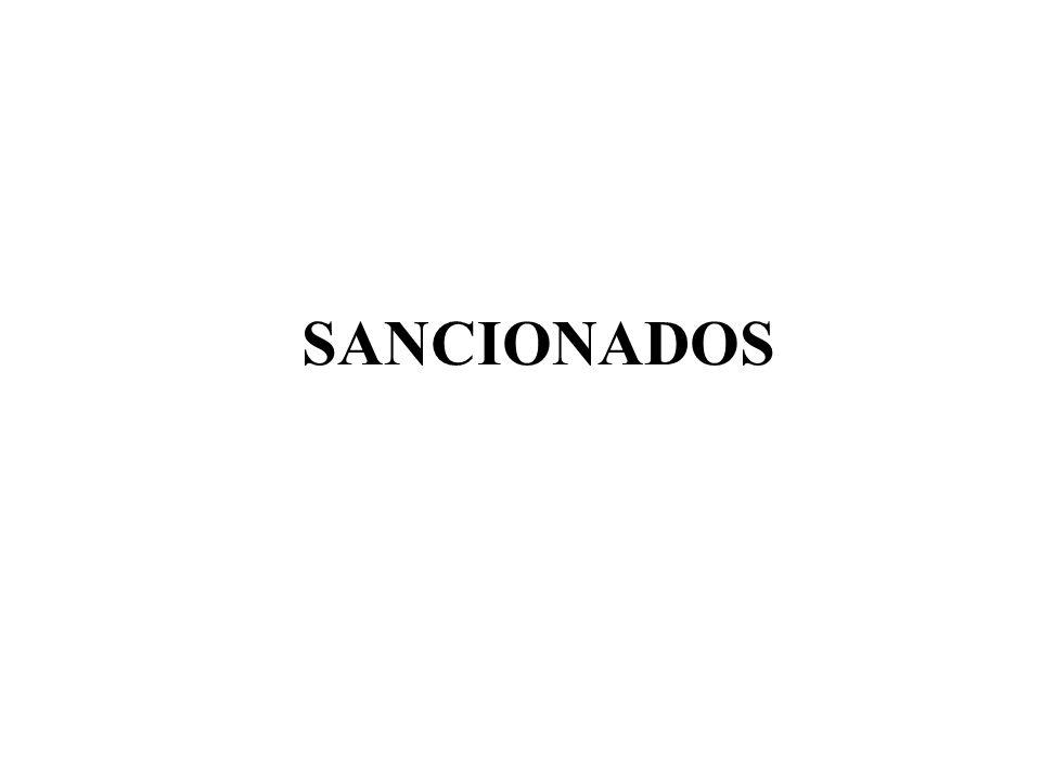 SANCIONADOS
