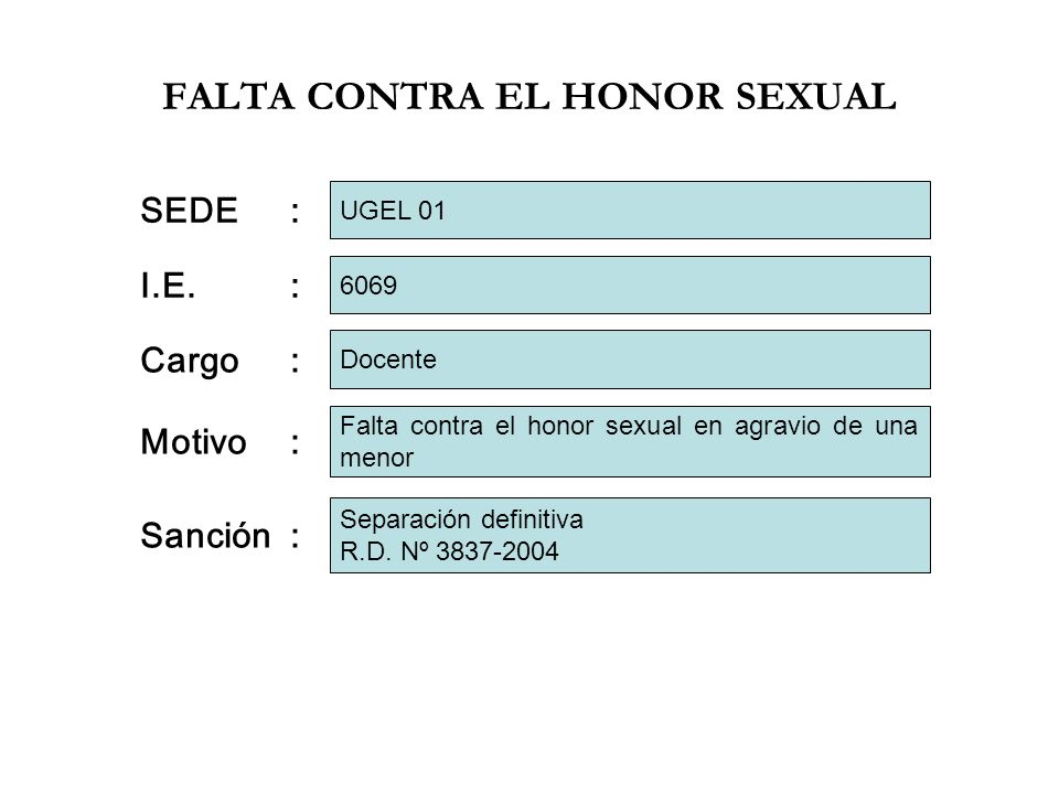 FALTA CONTRA EL HONOR SEXUAL